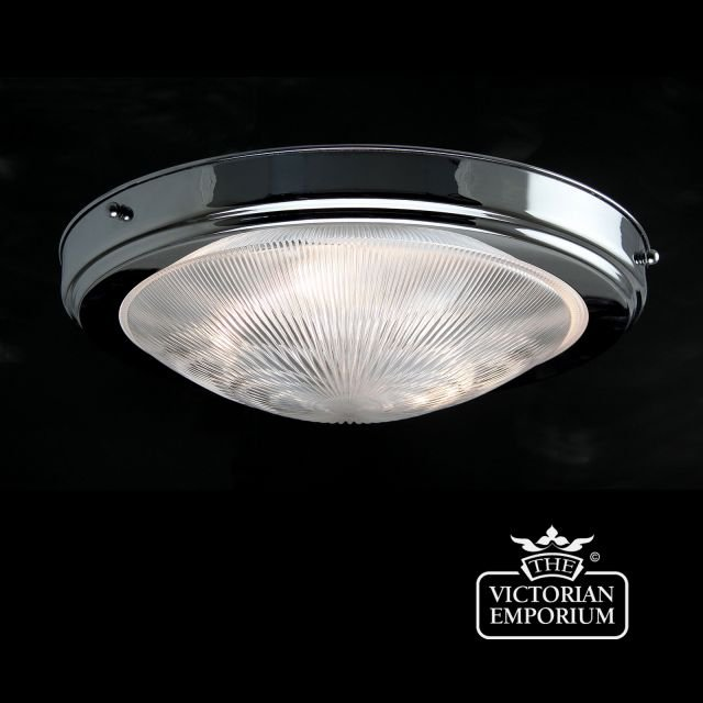 Prismatics flush mount light in chrome