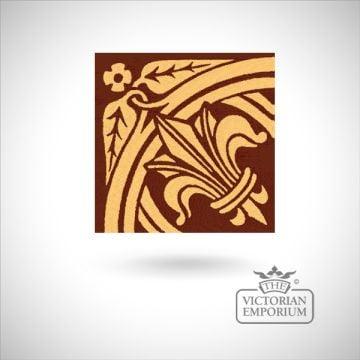 """Encaustic 4.25"""" square tile - design 1"""