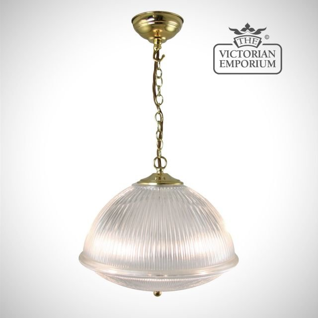 Beautiful dome shaped ceiling light in polished brass