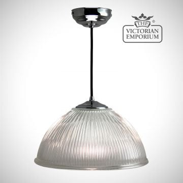 Simple dome ceiling light in chrome