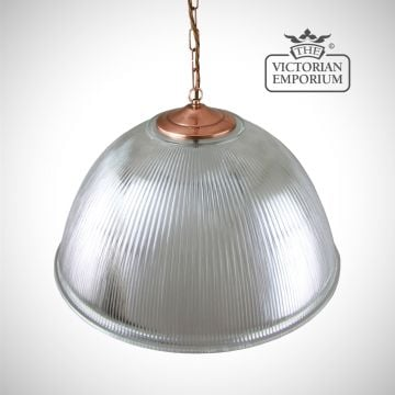 Large dome ceiling light in copper
