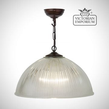 Medium sized dome ceiling light in antique bronze