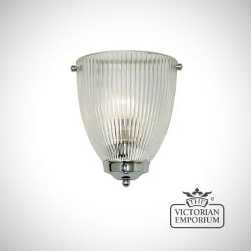 Reeded oval wall light