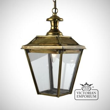 William small ceiling pendant in distressed brass