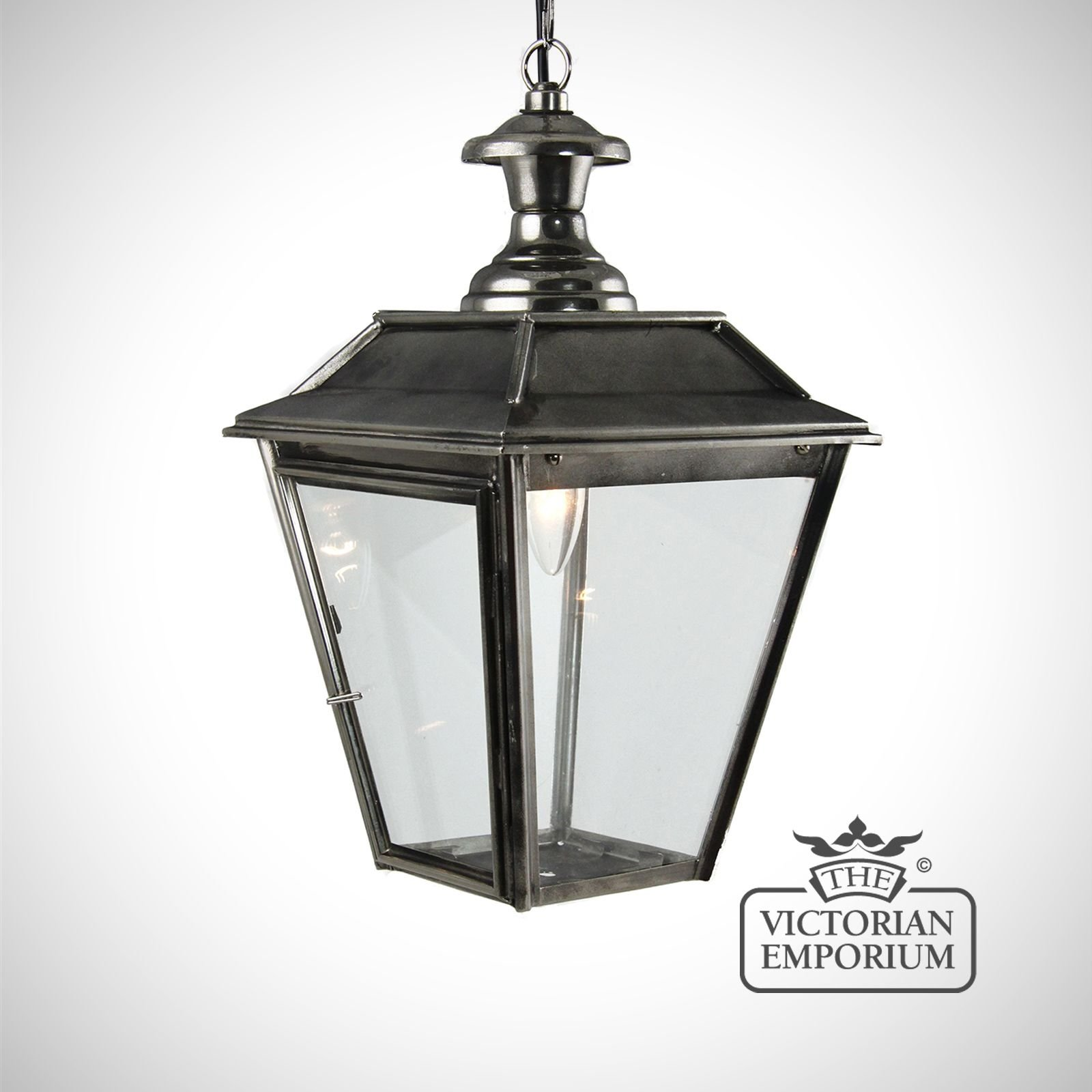 new product f8521 ff0b7 William small ceiling pendant in nickel black   Exterior ceiling lights