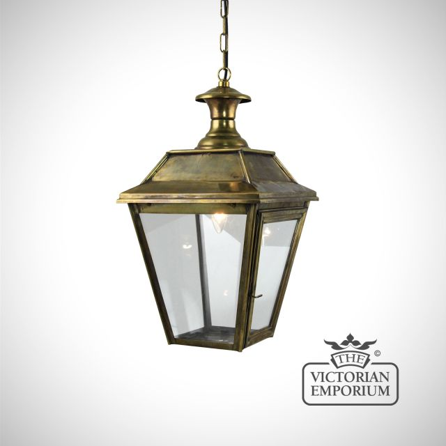 William medium ceiling pendant in distressed brass