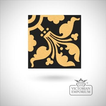 "Encaustic 4.25"" square tile - design 26"