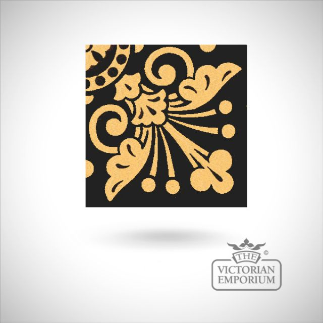 "Encaustic 4.25"" square tile - design 27"
