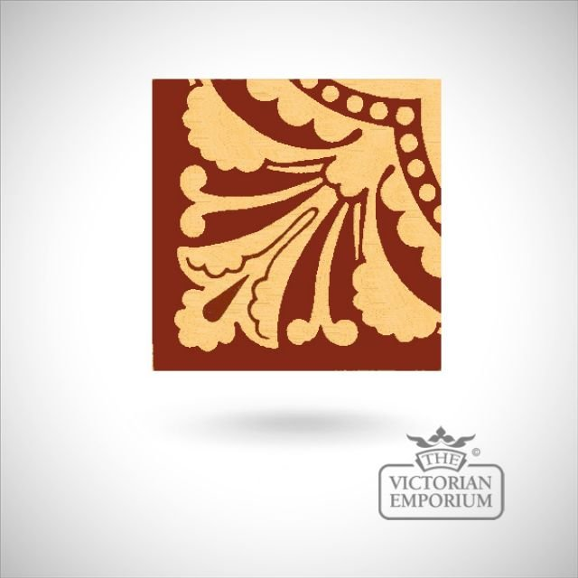 "Encaustic 4.25"" square tile - design 31"
