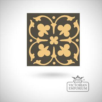 """Encaustic 4.25"""" square tile - design 40"""