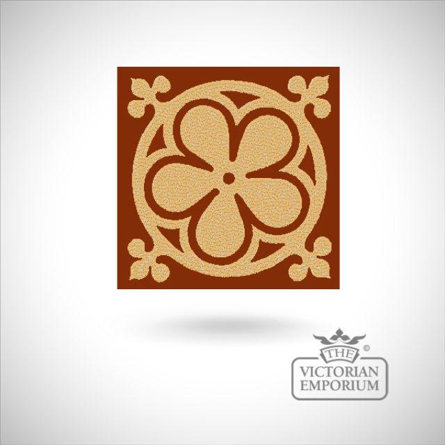 """Encaustic 4.25"""" square tile - design 46"""