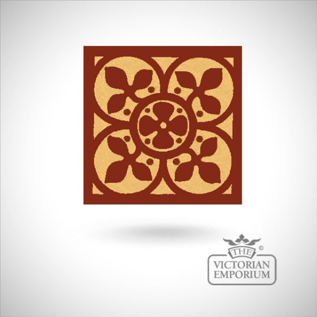 "Encaustic 4.25"" square tile - design 60"