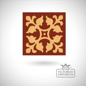 """Encaustic 4.25"""" square tile - design 63"""