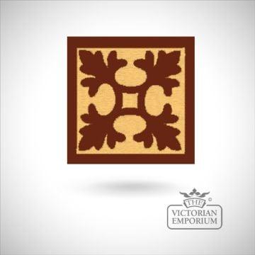 """Encaustic 3"""" square tile - design 3"""