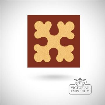"""Encaustic 2.25"""" square tile - design 4"""