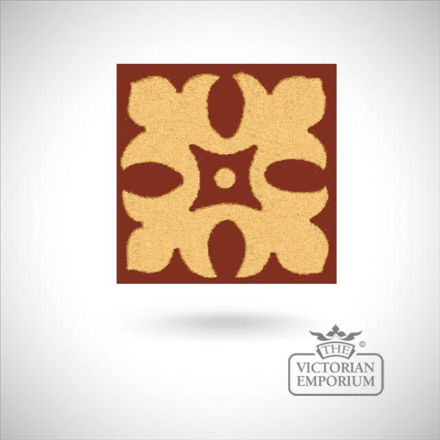 """Encaustic 2.25"""" square tile - design 11"""