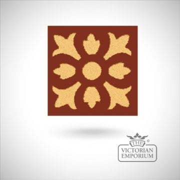 "Encaustic 2.25"" square tile - design 13"