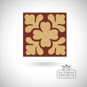 "Encaustic 2.25"" square tile - design 14"