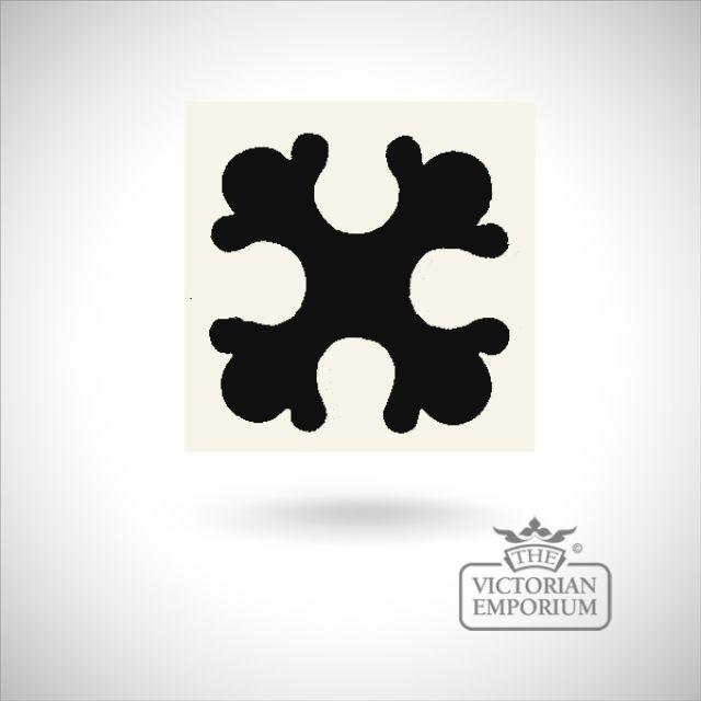 """Encaustic 2.25"""" square tile - design 15"""