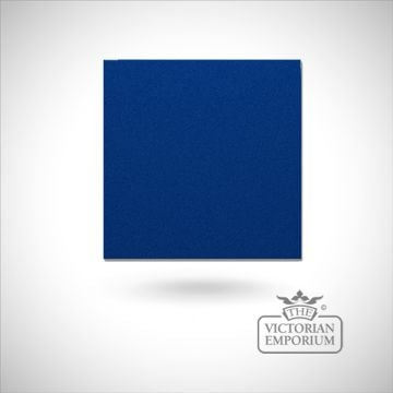 Traditional tiles encaustic hand made old classical victorian plain colour sample reclaimed-midnight blue