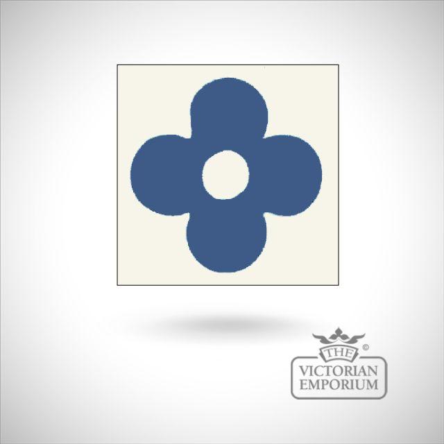 """Encaustic 1.5"""" square tile - design 5"""