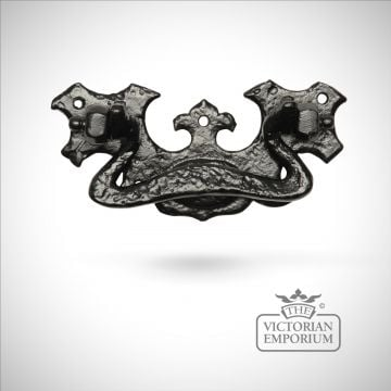 Black iron handcrafted drawer pull