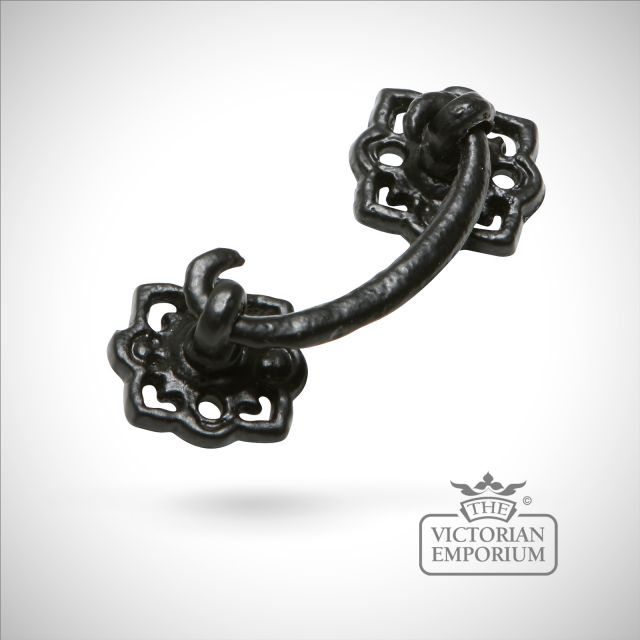 Black iron handcrafted pretty drawer handle