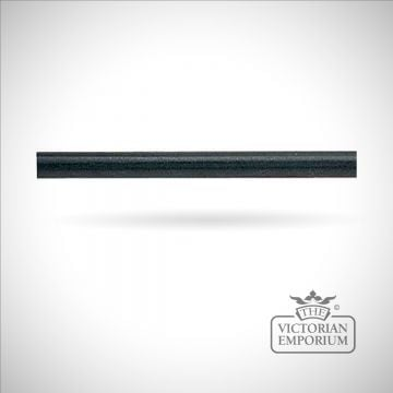 Wrought iron curtain pole in black
