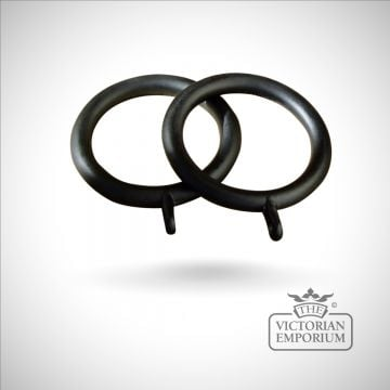 Wrought iron curtain rings