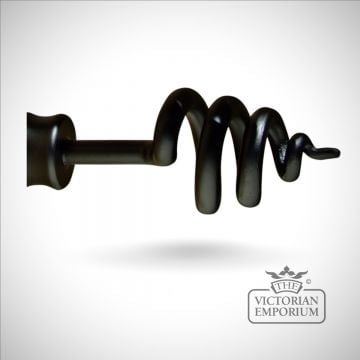 Wrought iron twist finial