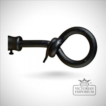 Wrought iron loop finial