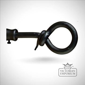 Wrought iron loop finial