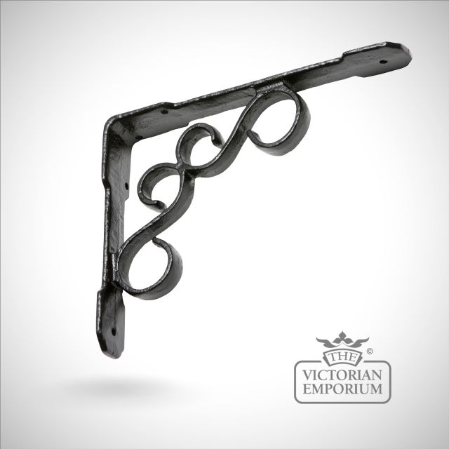 Black iron handcrafted Fireside bracket
