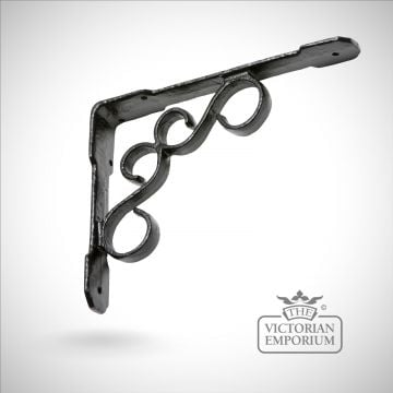Traditional basket hook kettle stand poker bracket fireside patio black hand forged old classical victorian decorative reclaimed-ve813