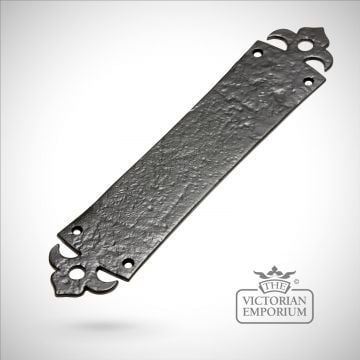 Black iron handcrafted ornate fingerplate