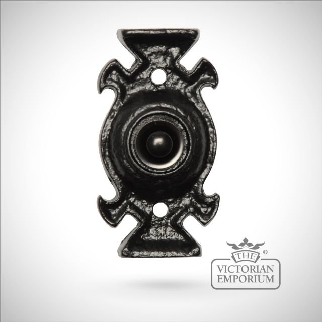 Black iron decorative handcrafted bell push