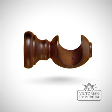 Tuscan curtain pole bracket in a choice of 4 finishes