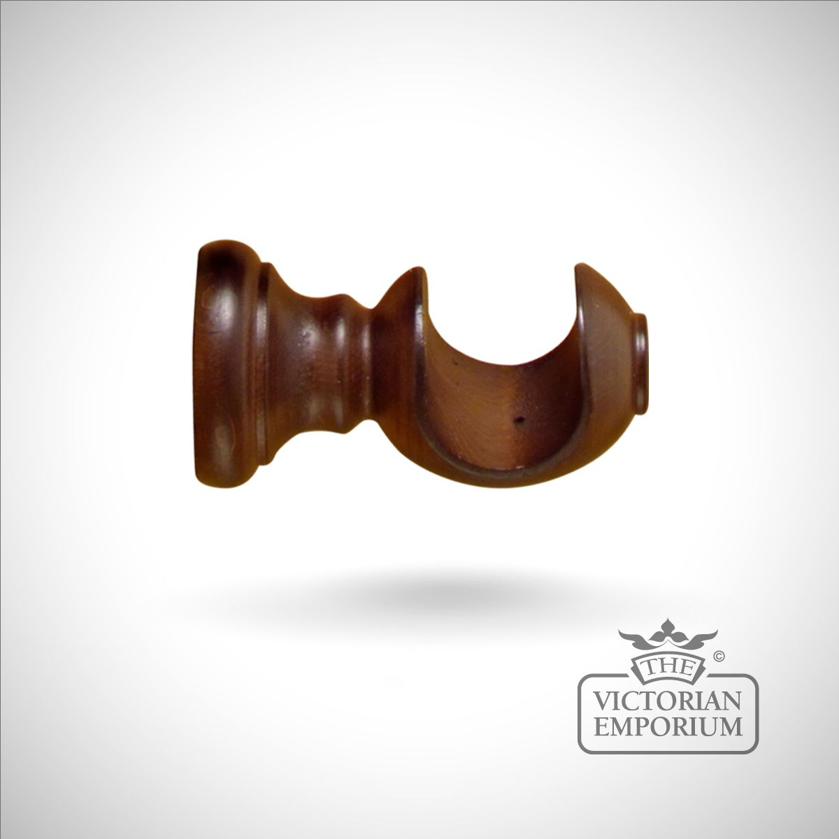 Royale Wooden Curtain Pole Bracket In A Choice Of 5 Finishes