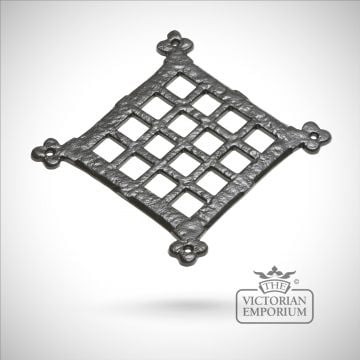 Black iron handcrafted door square