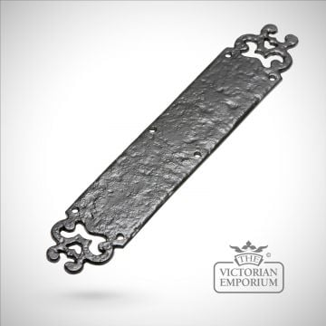 Black iron handcrafted decorative fingerplate