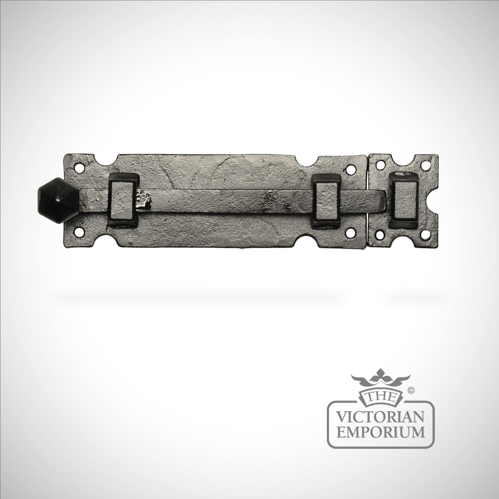Black iron smooth finish door bolt | Locks and bolts