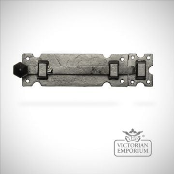 Black iron smooth finish door bolt