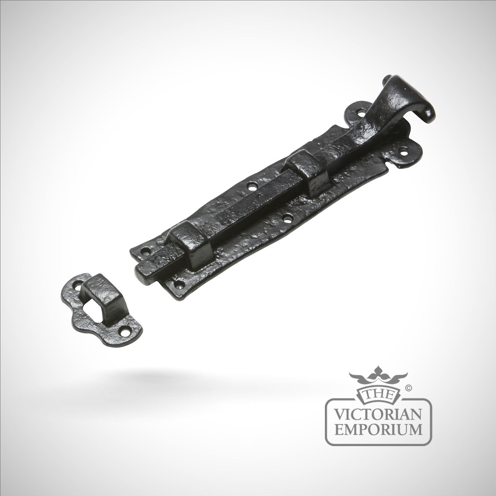 Black Iron Handcrafted Door Bolt   Straight Or Cranked ...