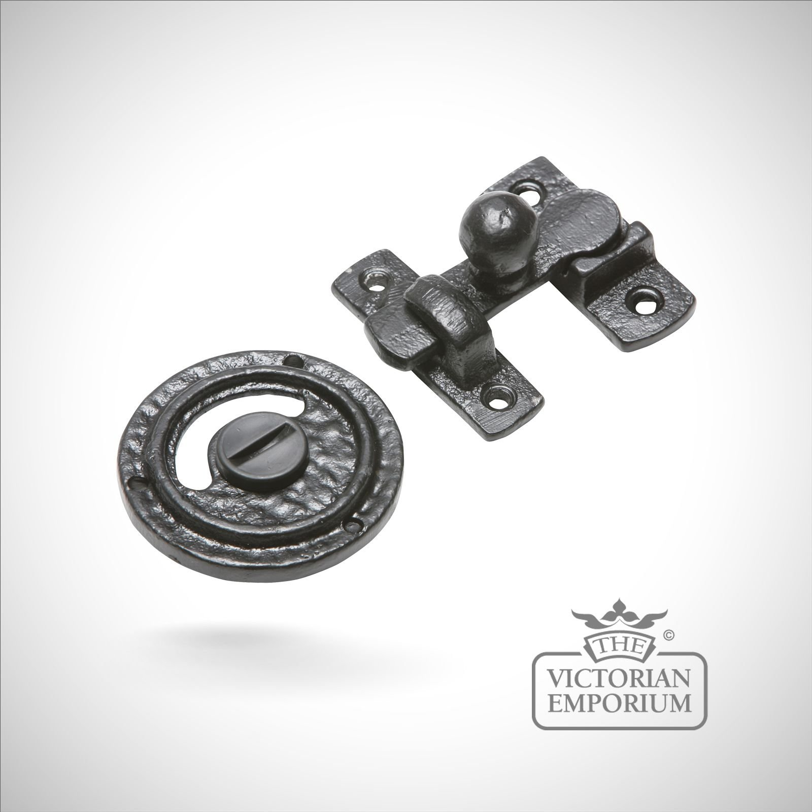 Black Iron Handcrafted Privacy Bolt Bolts