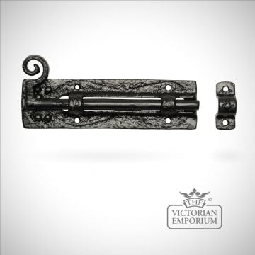 Traditional cast door furniture bolts chain black hand forged old classical victorian decorative reclaimed-ve1257