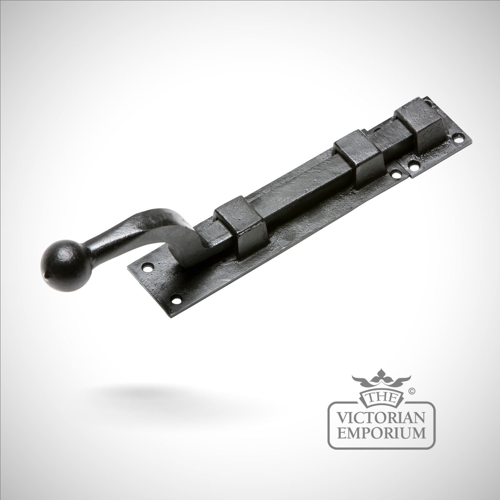 Black Iron Handcrafted Door Bolt In A Choice Of Sizes Bolts