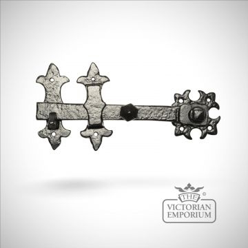 Black iron handcrafted decorative latch