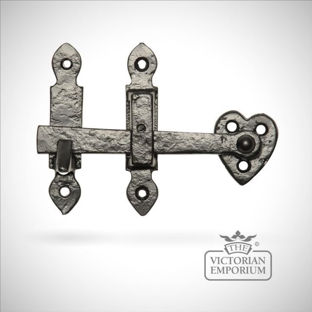 Black iron handcrafted latch with handles