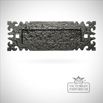 Black iron handcrafted decorative letterplate