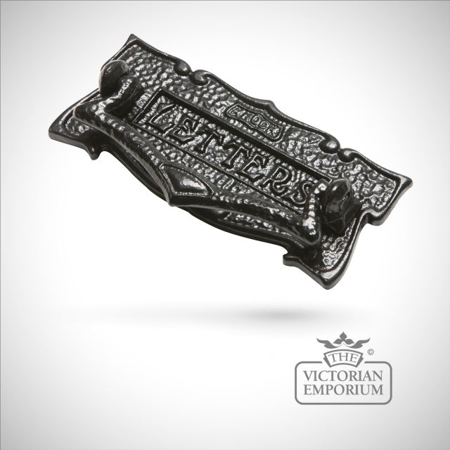Black iron handcrafted letterplate - 205mm